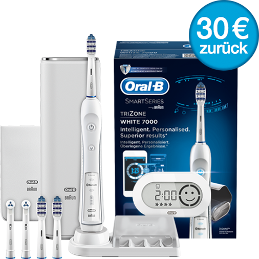 oral b trizone 7000 smartseries white 30 eur geld zur ck von oral b ebay. Black Bedroom Furniture Sets. Home Design Ideas