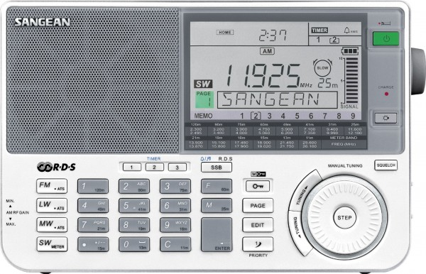 Sangean ATS-909X White UKW-Stereo / LW / MW / KW PLL-Syntheziser Weltempfänger