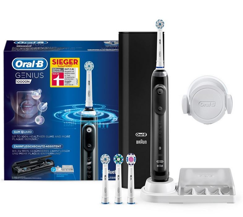 oral b genius 10100s black elektrische zahnb rste sieger. Black Bedroom Furniture Sets. Home Design Ideas